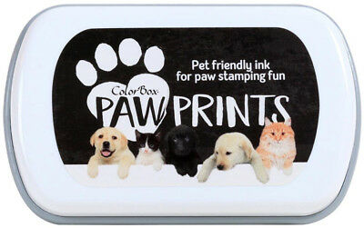 Colorbox Paw Prints Ink Pad With Pet Friendly Ink For Personalized Paw Art Black