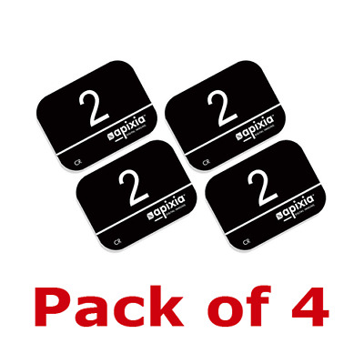 4 Pack Size #2 Apixia  Air Tech Type X-Ray Phosphor Plates PSP FDA Approved