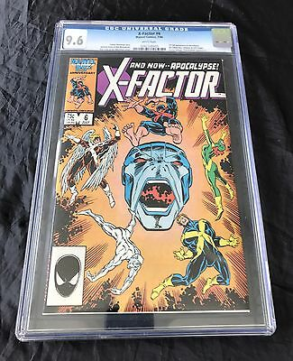 X-Factor #6 (7/1986) Cgc 9.6 White Pages 1St App Apocalypse