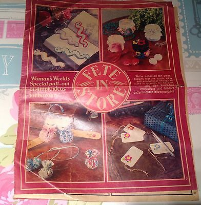 Lovely Vintage Woman's Weekly Magazine Fete In Store Pattern Booklet