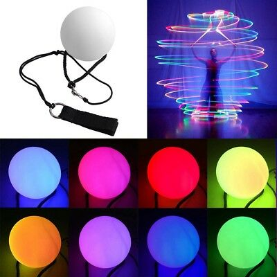7 Colors POI LED Thrown Balls Light Up For Professional Belly Dance Hand Prop K6