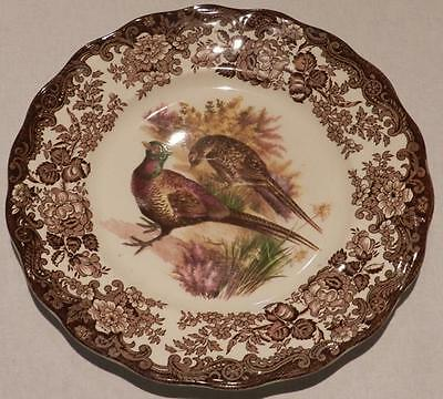 1940s Royal Worcester China Pheasant Dinner Plate and Duck Bowl set