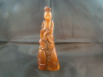 Chinese Later 19th century nice carved horn figure   p6691