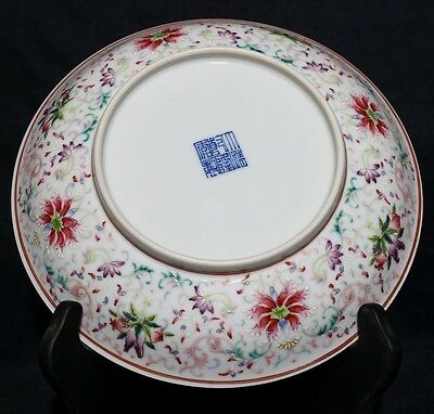 Nice Rare Antique Chinese Colorful Porcelain Plate Decorative Collection FA202