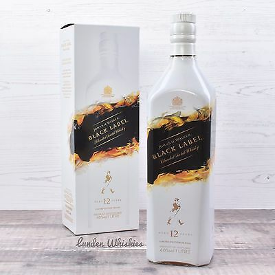 Johnnie Walker Black Label Mattia Biagi Limited Edition 12YO Whisky 1000ml RARE!