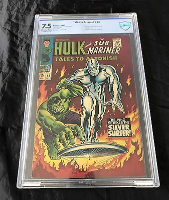 Tales To Astonish #93 (7/1967) Cbcs 7.5 Ow-W Pages Hulk Vs Silver Surfer!