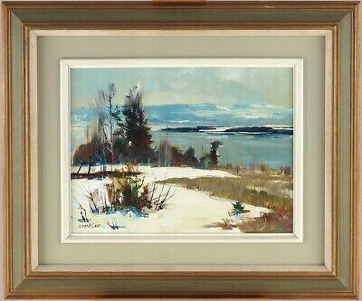 Bruce Le Dain RCA (1928-2000)Canadian Listed Oil Fleuve St-Laurent Quebec