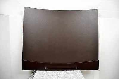 "Office Depot® Brand Wood & Leather Cushioned 24""x20"" Desk Pad, Espresso"