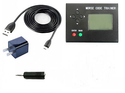 LCD Morse Code Trainer Shortwave Ham Radio Station Telegraph CW Learning Power
