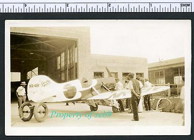 1930 AIR RACES PHOTO ~ LOWELL BAYLES NR49V GEE BEE MODEL X-1 RACER at Cleveland