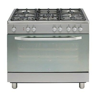 Euro EP90DMSX 90cm Dual Fuel Upright Oven 8 Multifunctions