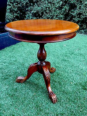 Beautiful Wooden Vintage/antique Pedestal Coffee-Occasional Round Table Macleod