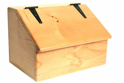 Storage Box - Wooden - Sloped Top - Hinged Lid - Versatile storage for the home