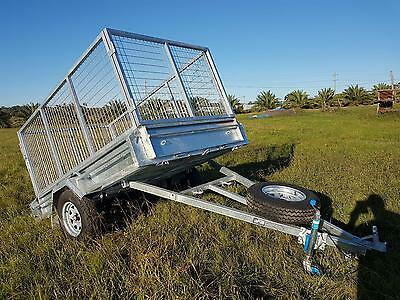 8x5 TIPPER TRAILER GALVANISED 300 HIGH SIDES 1000MM CAGE