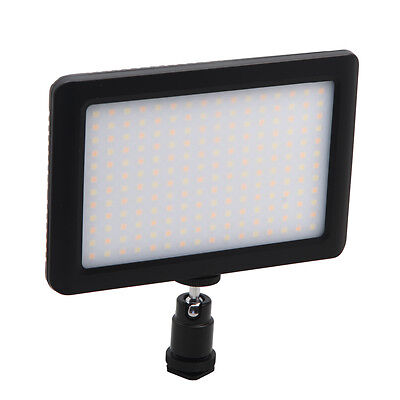 Mini 192 LEDs Camera Video Light Dimmable 3200K/6000K Hot Shoe for Canon Nikon