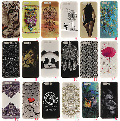 Rubber Pattern Painting Soft Tpu Silicone Case Cover For Huawei P10/P10 lite
