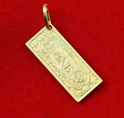 9ct Gold American Dollar Charm *Money Charm* *3D Reversible*