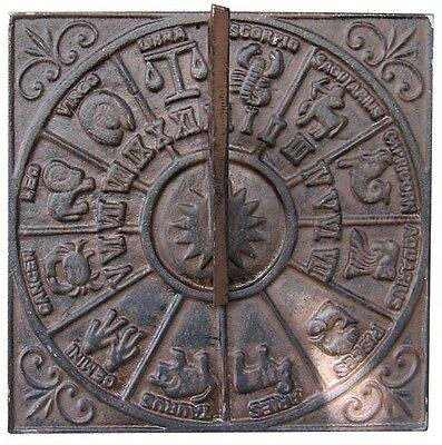 Sundial Star sign Wall antique country house Cast Iron Casting