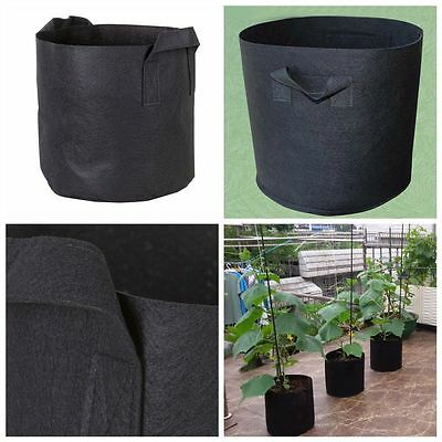 4Pcs Pack Fabric Pots Roots Breathable Plant Grow Bags 1 2 3 5 7 10 15 20 Gallon