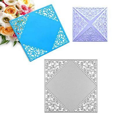 Square Greeting Card Metal Cutting Dies Stencil Scrapbooking Embossing Craft DIY