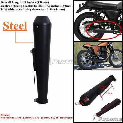 Motorcycle Exhaust Muffler Reverse Cone Megaphone Black Fit Harley Chopper Racer