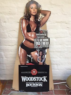 Woodstock Bourbon cardboard cut out of 'Chloe Khan', 168 cm high. Pick Up Only