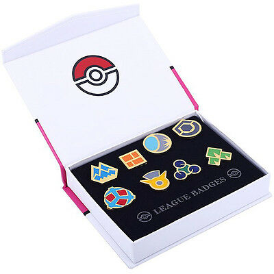 Pokemon Gym League Sinnoh Set of 8 Metal Badge Pin VER.NEW