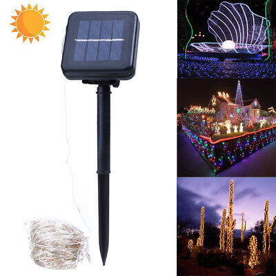 20M 200LED Solar Power Copper Wire String Fairy Light Outdoor Xmas Party Lamp