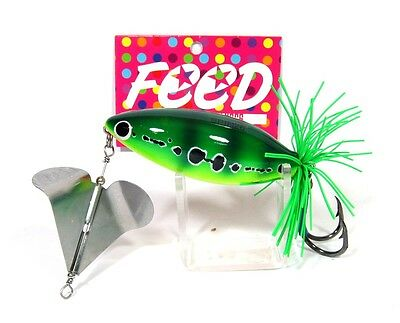 Feed Spin 26 Hand Made Wood Frog Floating Lure 26 grams 8 (1008)