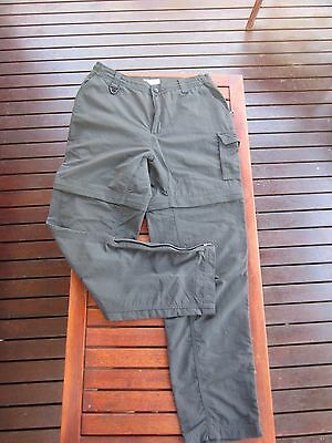 Womens Columbia Omni Dry hiking pants zip off shorts size 10 to 12