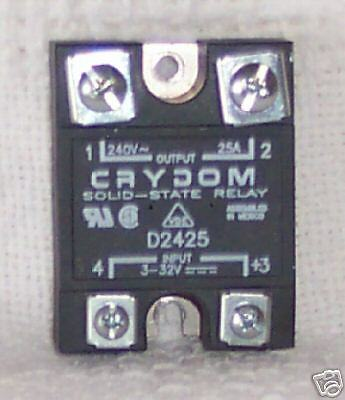 5 Crydom D2425 Solid State Relay 240 Vac 25 Amp