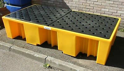 Ecosure Plastic Double IBC Bund Spill Containment Sump Bunded Pallet - UK Made