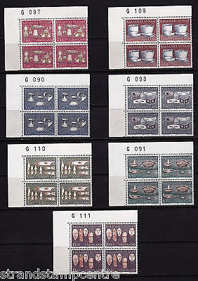 Greenland - 1986 Local Crafts - U/M - Numbered CORNER BLOCKS of FOUR - SG 160-6
