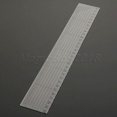 Sewing Quilting Patchwork Ruler Sew Easy Grid Cutting Tools Tailor Scale 30*5cm