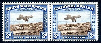 SOUTH WEST AFRICA-1931 3d Brown & Blue (Air Post) Sg 86 LIGHTLY MOUNTED MINT