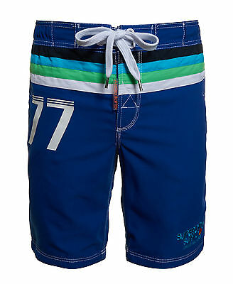 New Mens Superdry Super Retro Board Shorts Voltage Blue