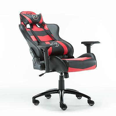 Recliner Office Chair Racing GT Red Omega Gaming Computer DX Esports Racer Seat