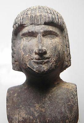 Zurqieh - Ancient Egypt, Beautiful Wood Figure Of A Servant? Male. 2100 B.c