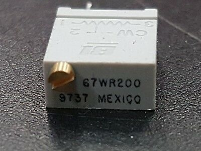10  PCS OF BI TECHNOLOGIES 200 ohm 67WR200 Trimmer Resistor