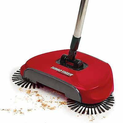 Turbo Tiger Sweeper Broom Red Carpet Cleaner by Tristar Products