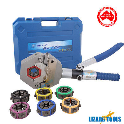 Hydraulic Hose Crimper Crimping Tool Kit Compressing Air Conditioning AC T0294