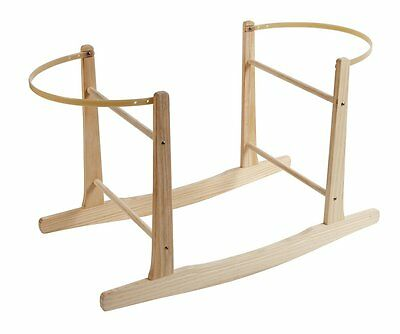 NEW Clair de Lune Wooden Rocking Moses Basket Stand - Natural