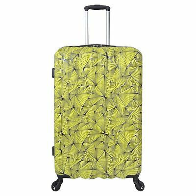 NEW Tesco Madrid 4 Wheel Hard Shell Large Suitcase - Yellow