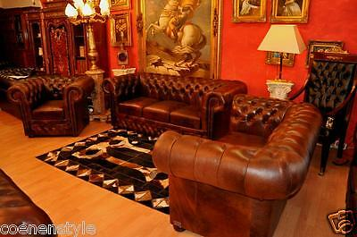 Chesterfield Heritage De Luxe Pull Up Aniline Vintage Chestnut E900 3+2+1