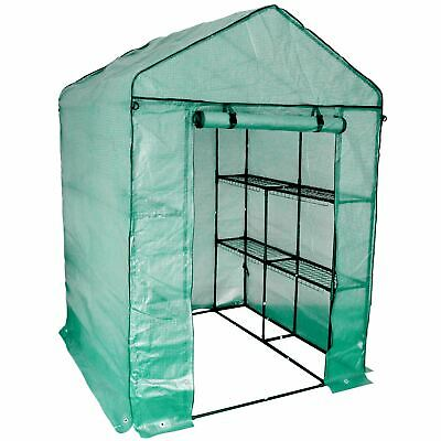 Large Double Depth Greenhouse / 8 Shelves & Strong Reinforced Cover