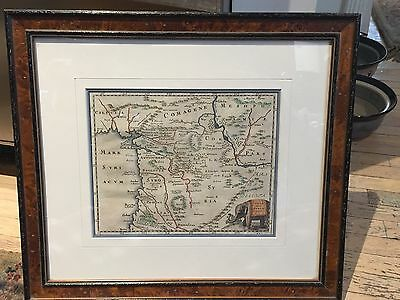 Syria Middle East 1697 Phlipp Cluver Antique Original Copper Engraved Map