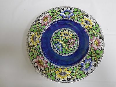 Maling Blue Lustre 'lace Border' Wall Plaque/plate 6329 - C1930S