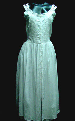Vintage Victorian Style Chemise Slip dress Boho Sundress All Cotton Sizes S-XL