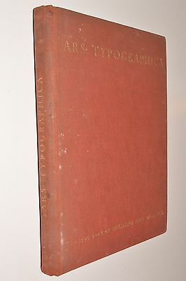 ARS TYPOGRAPHICA - THE TYPE BOOK OF BALDING AND MANSELL hb 1930