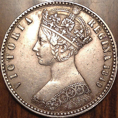1849 Uk Gb Great Britain Silver Florin In Beautiful Condition !